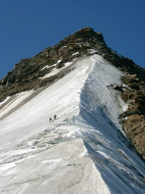 North ridge - upper section