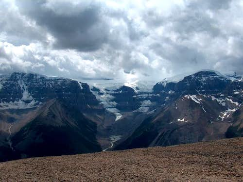 Stutfield Glacier from the...