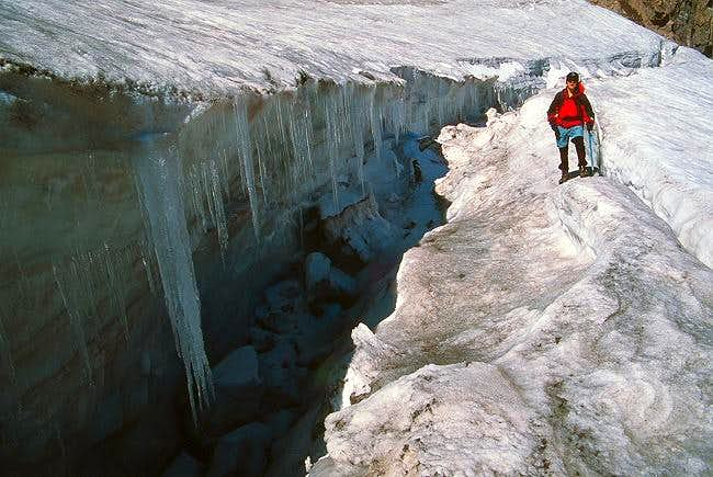 An October crevasse that...