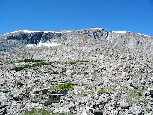 Looking up the East Ridge at...