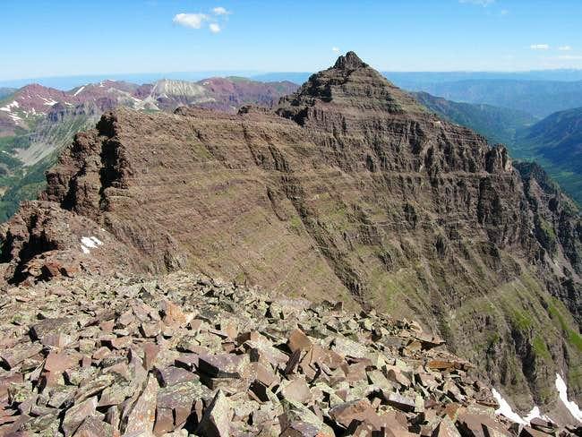 The great Pyramid Peak...