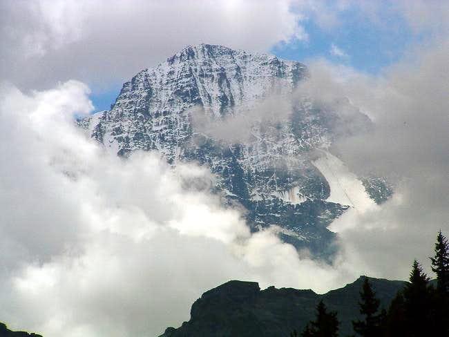 The Breithorn peak,...