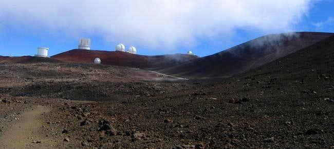 First view of Mauna Kea...