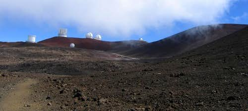 First view of Mauna Kea...