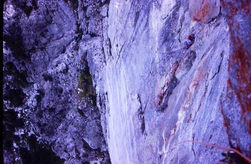The crux pitch ( A4 ) on the...