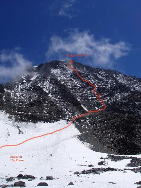 The sketch of the route...