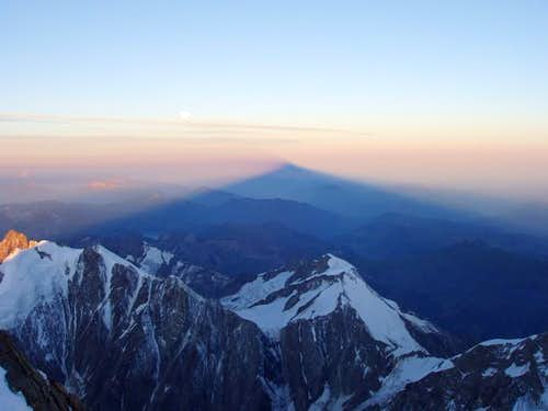 The shadow of Mont Blanc...