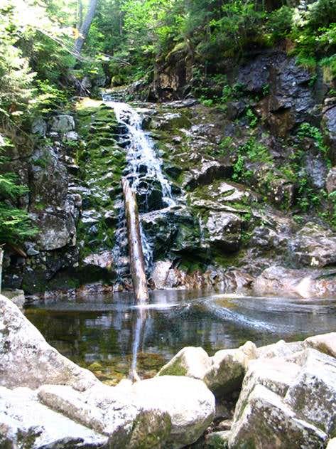 A beatiful waterfall on Mt...