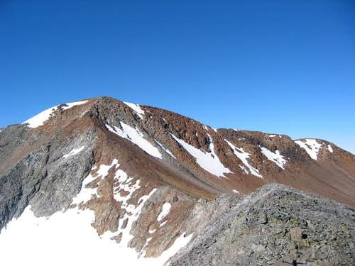 The summit of Gibbs from the...