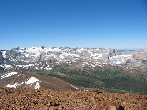 View west from the summit of...