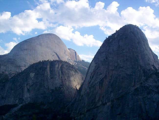 Half Dome and Liberty Cap...