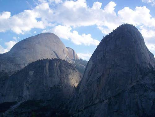 Half Dome and Liberty Cap...