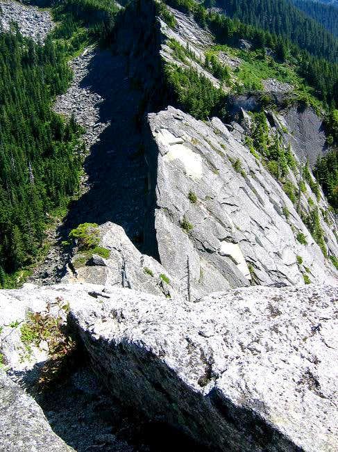 The south summit ridge of...