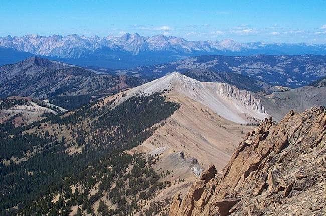 The view of Blackman Peak...