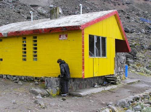 The Nuevos Horizontes hut....