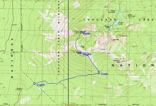 Topo Map of the Magee Trail....