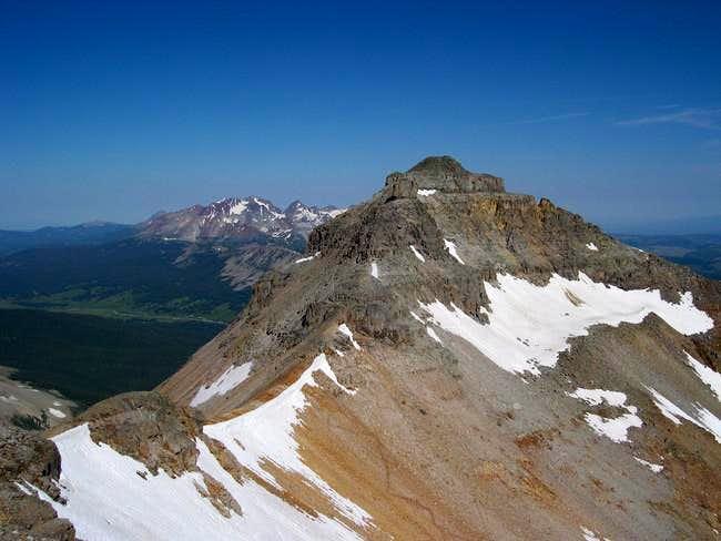 Vermillion from summit of...