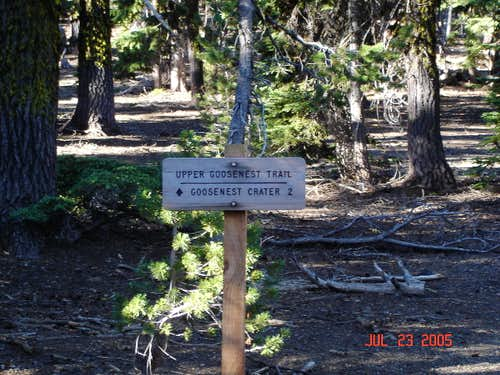 Trailhead on the north side...