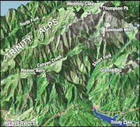 Rendering of Thompson Peak...