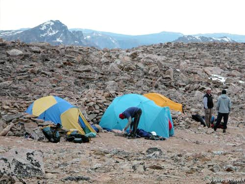 Base Camp for Granite Peak on...