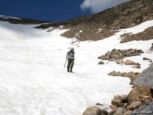 Snow glacier on the south...