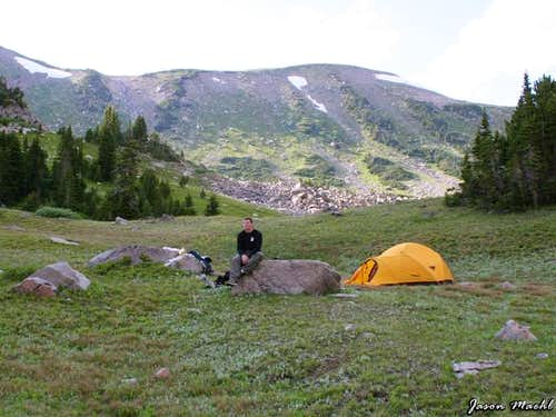 Camp site near Shadow Lake...