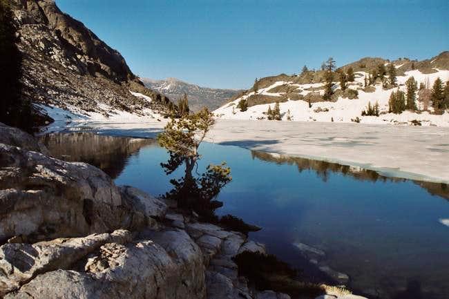 Half frozen Ediza Lake on...