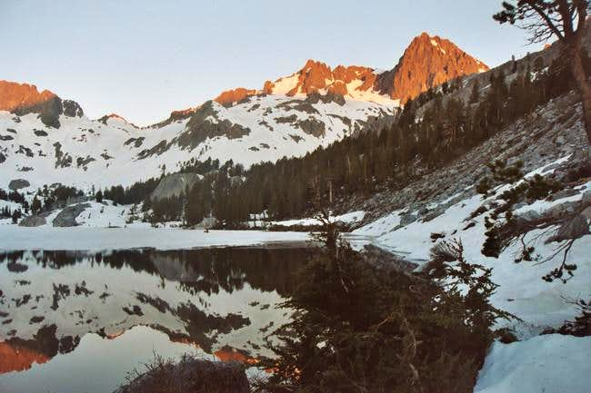 Morning glow on Mt Ritter and...