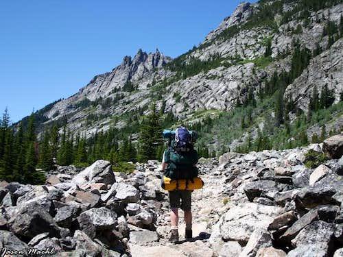Boulder field before...
