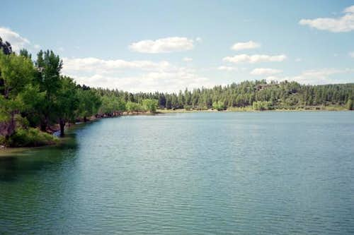 A view of Mancos Lake.