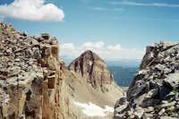 A view of Centennial Peak.