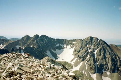 A view of Babcock Peak and...