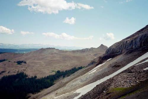 A view of Sharkstooth Peak.