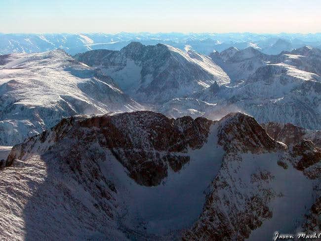 Aerial of Mt Wood and Granite...
