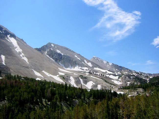 The white limestone peaks...
