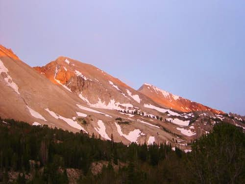 Alpenglow on WCP-9 & D.O. Lee...