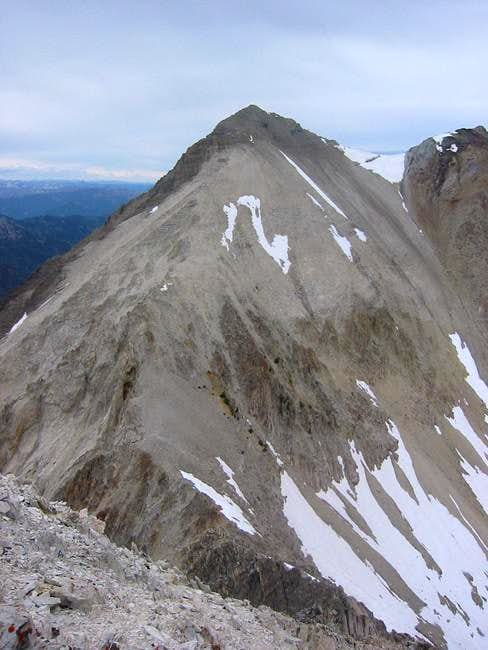 View north to Caulkens peak...