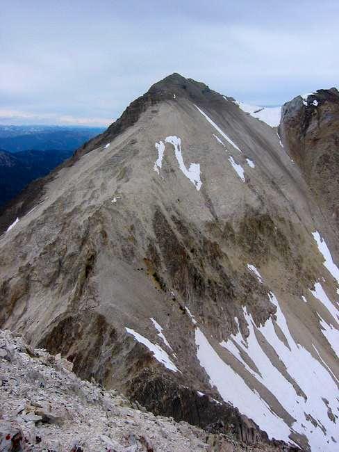 View north to Caulkens peak...