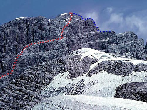 Cima Brenta higher S wall...