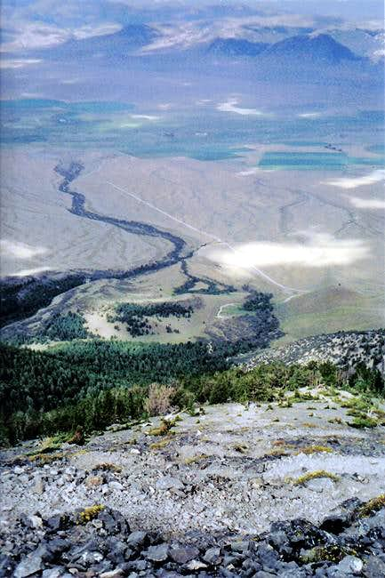 Looking down Borah from...