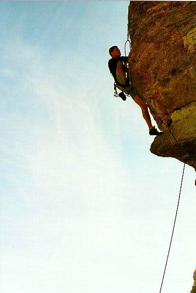Me just past the crux of an...