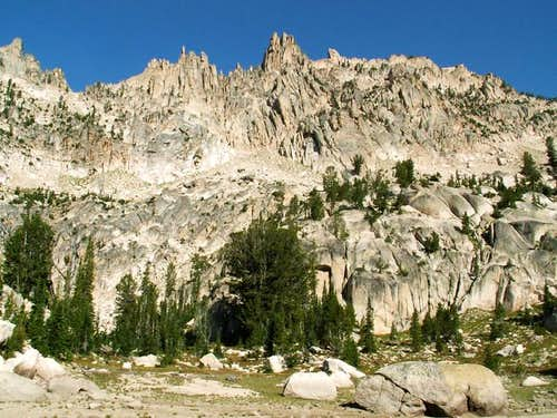 Braxon Peak\'s south face as...
