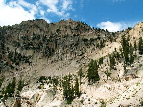 Braxon Peak from the valley...