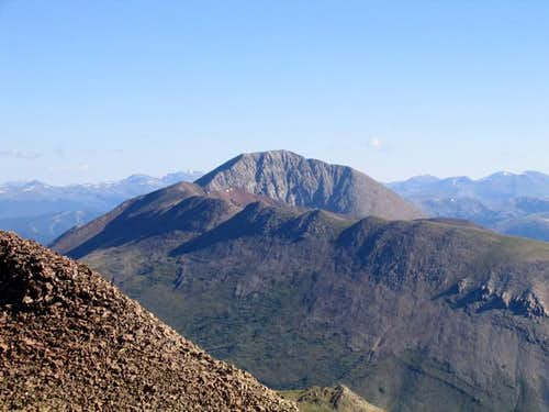 Mount Guyot from the summit...