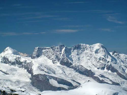 Breithorn massif from summit...