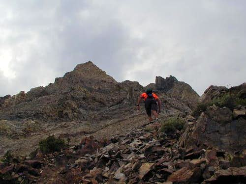 Nearing the summit of Mt....