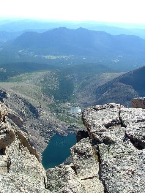 A good view of Chasm Lake, Mt...