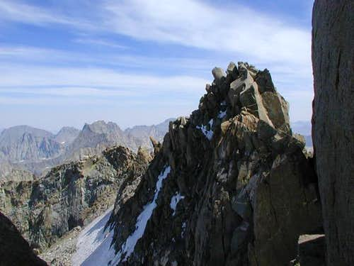 The summit of North Palisade...