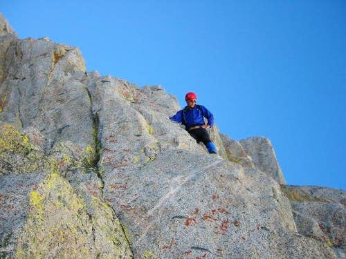 On the start of the NE Ridge...