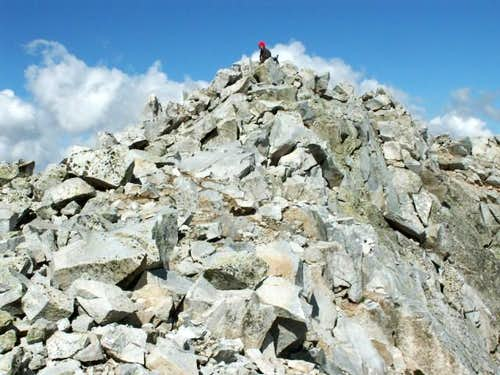 Hagerman Peak\'s summit